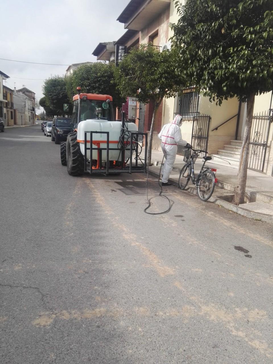 Limpieza y desinfección de calles