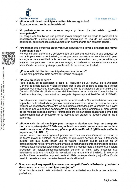 Respuestas a preguntas más frecuentes sobre las medidas nivel III reforzadas y restricciones libertad de circulación y movilidad en horario nocturno