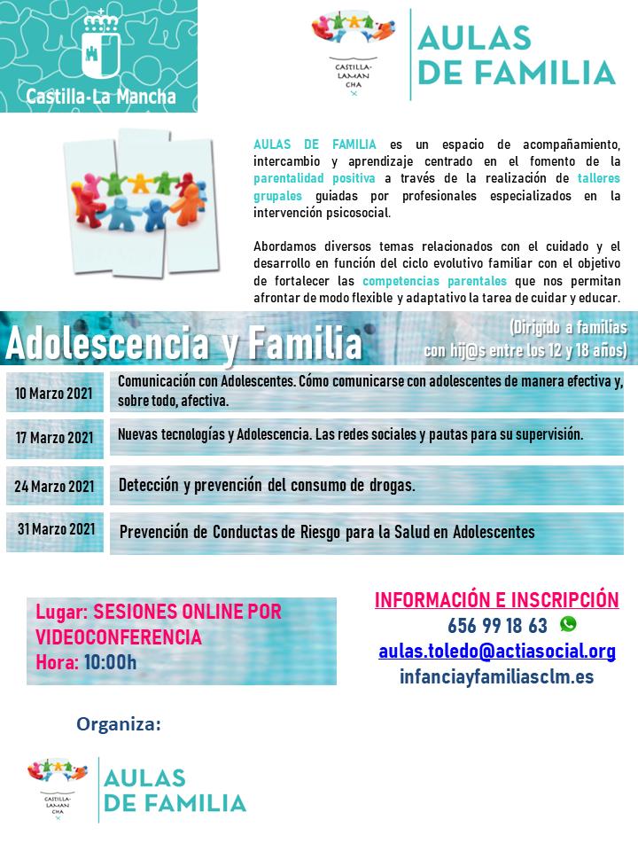 Aulas de Familia Online, Febrero y Marzo